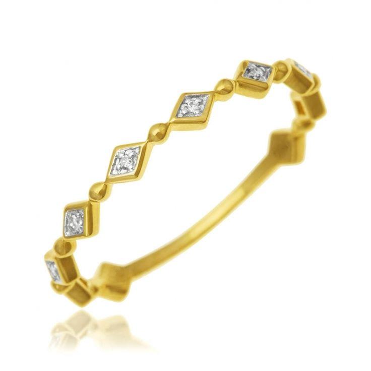 Achat Alliance Femme Or Rhodié 1.03 g , Diamant 0.024 ct - Le Manège à Bijoux®
