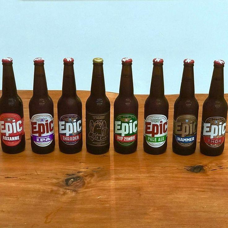 What's your pick for the long weekend? Stay dry and safe! #epic #epicbeer #craftbeer #nzcraftbeer #beerlineup #beer #drinkcraft #ipa #indiapaleale #doubleIPA #dipa #thor #thunderAPA #americanpaleale #paleale #instabeer #beerstagram #lovebeer #lovehops #needmorehops #goodbeer #nzbeer