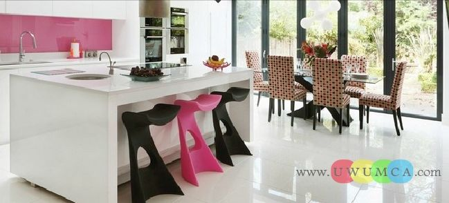 Kitchen:Pink Kitchen New Modern Kitchen Layout Styles And Interior Designs Colors Backsplash Countertops Island Remodels Small House Space I...