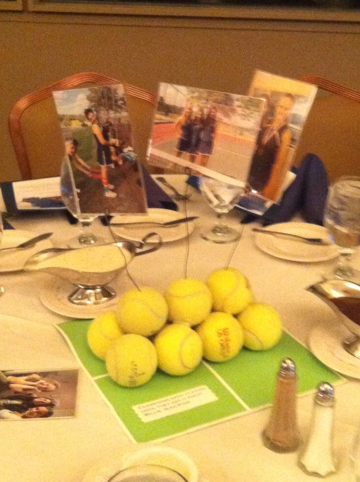 Softball Banquet Centerpiece Ideas : Centerpiece for tennis banquet things i love pinterest