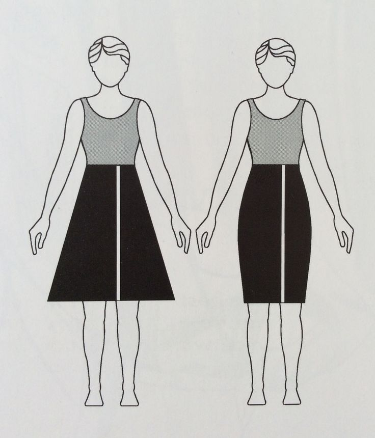 A-line skirts will make legs look thinner, but pencil skirts define the hips more and elongate the body.
