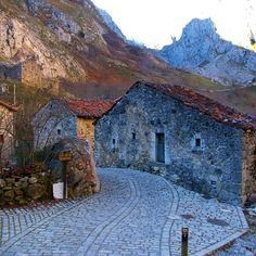 Bulnes, pueblo de cuento. Asturias. Spain.
