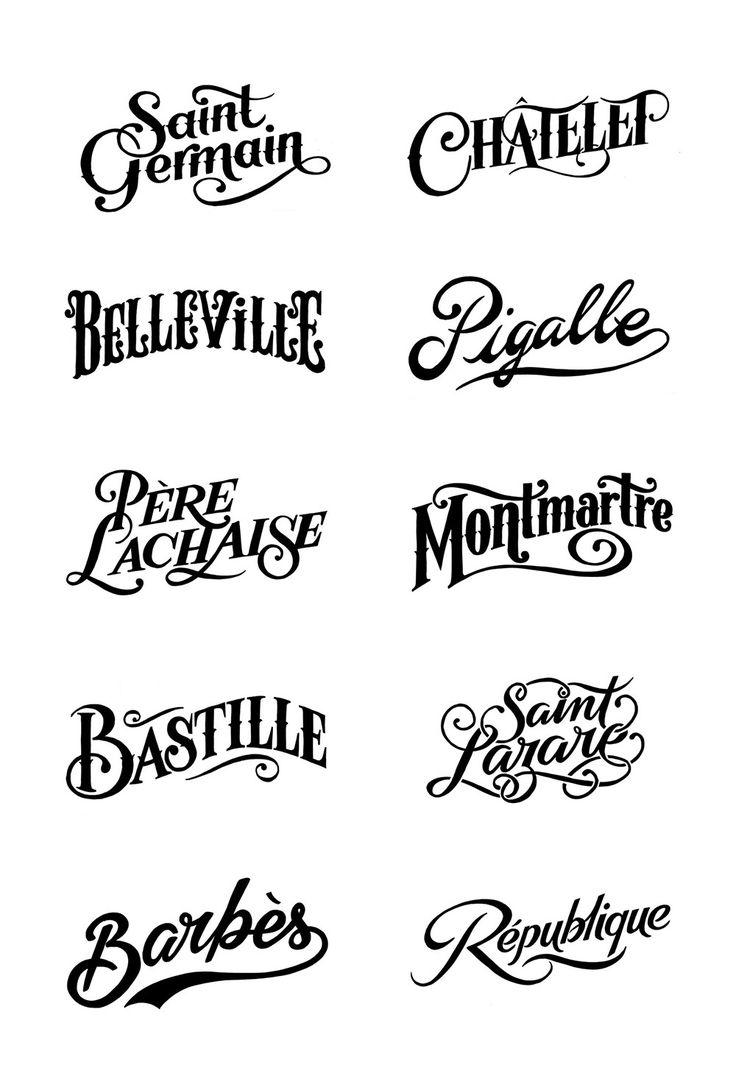 Bleu De Paname | Tyrsa - #typography #type