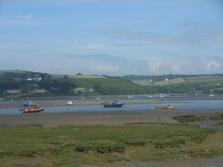 Boats at Poppit Sands, Pembrokshire, Wales - June 2014