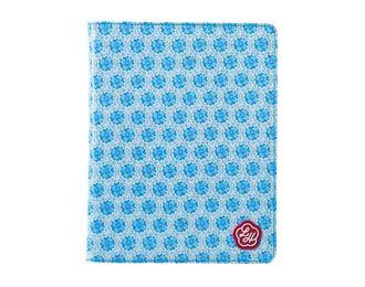 Lou Harvey - iPad Cover - Circle Flower - Blue