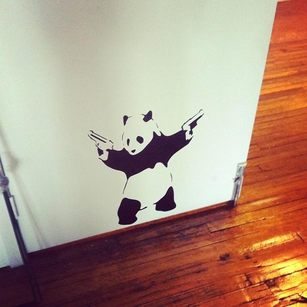 Office art.  Badass panda.  Streetart.    Ovrgrnd.ca