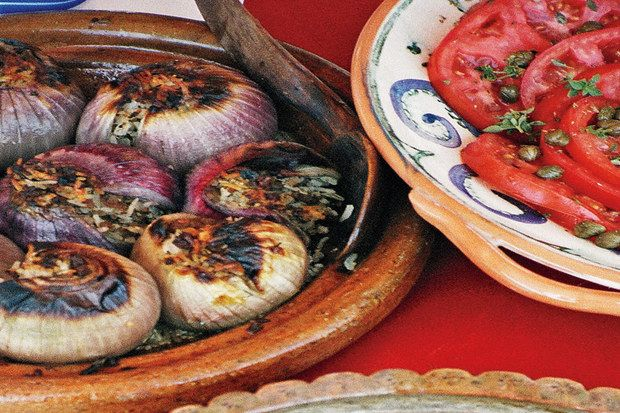 Roasted Stuffed Red Onions | Recipe | Onions, Food and Red