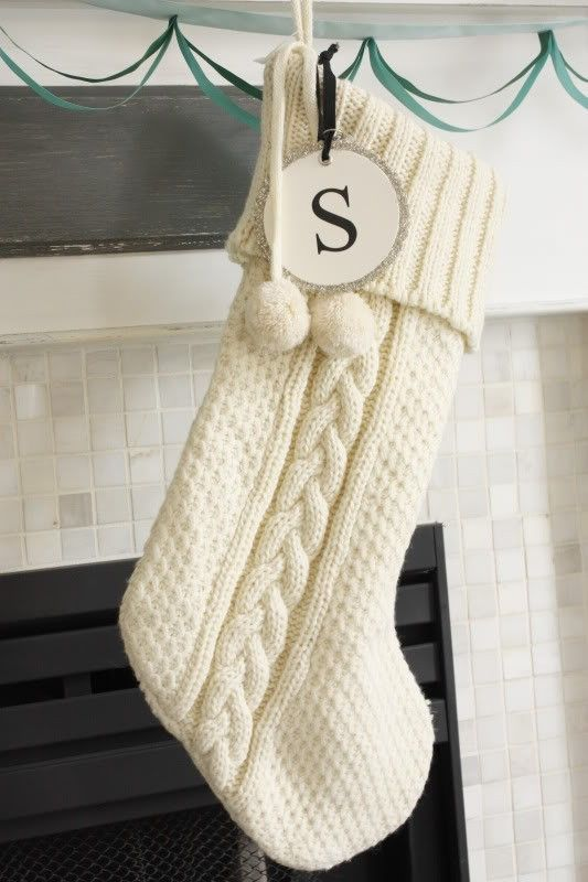 monogram sweater stockings