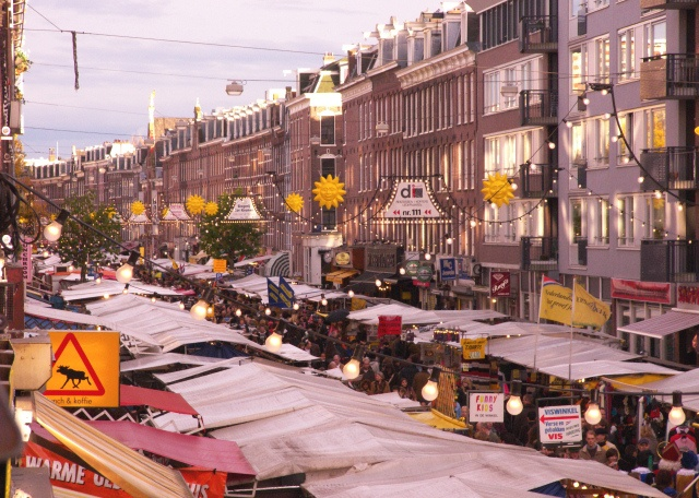 Albert Cuyp Market, Amsterdam.  This is such an experience!  Love this open air market as well as all the markets I've seen and been to in Holland.