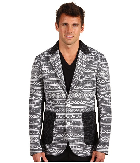Shades of Grey Contrast Knit Blazer