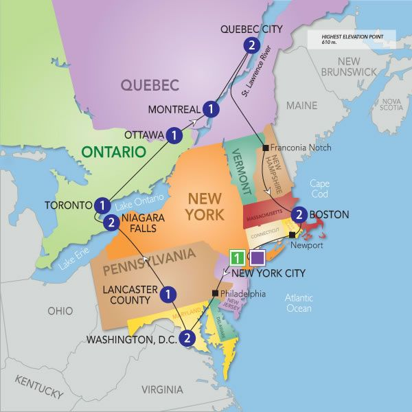 Eastern Canada Tours From New York