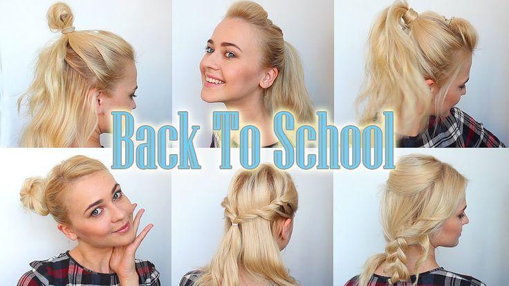 Простые ❤️ ПРИЧЁСКИ В ШКОЛУ  на СРЕДНИЕ волосы | BACK TO SCHOOL Hairsty...