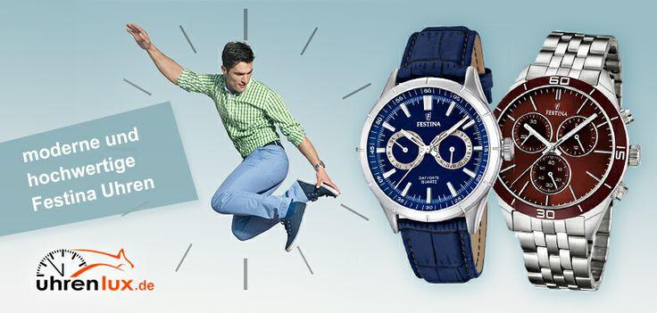 Immer eine Zeigerlänge voraus - trendige Festina Uhren auf: http://www.uhrenlux.de/uhren/festina  #Uhren #Festina #Uhrenlux #Armbanduhr