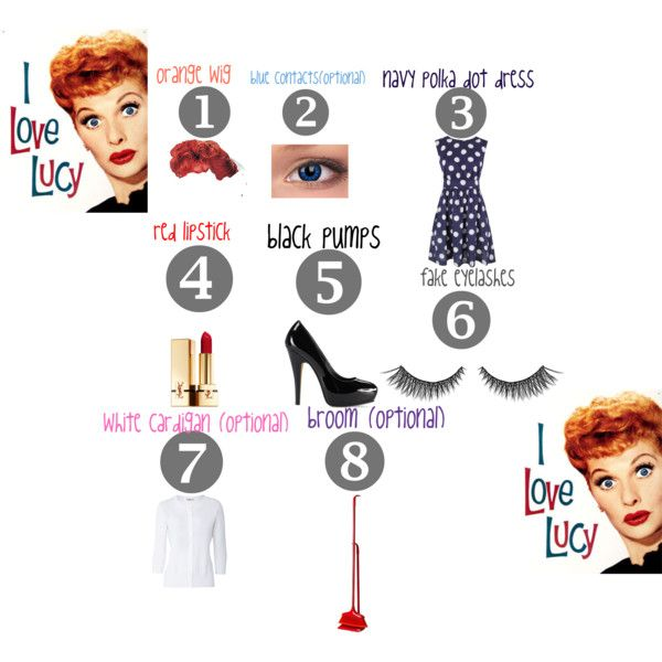 """I Love Lucy Costume"" by briana-arielle-fidelino-anon on Polyvore"