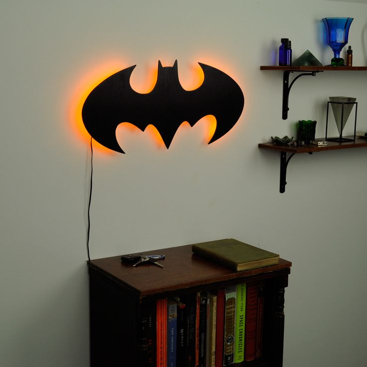 Lighted Batman Logo Wall Art