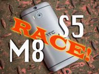 HTC One M8 and Samsung Galaxy S5 race to shops in podcast 382 The new HTC One M8 and Samsung Galaxy S5 are in a race to hit shop shelves -- and we reveal an all-new CNET in the latest CNET UK podcast.