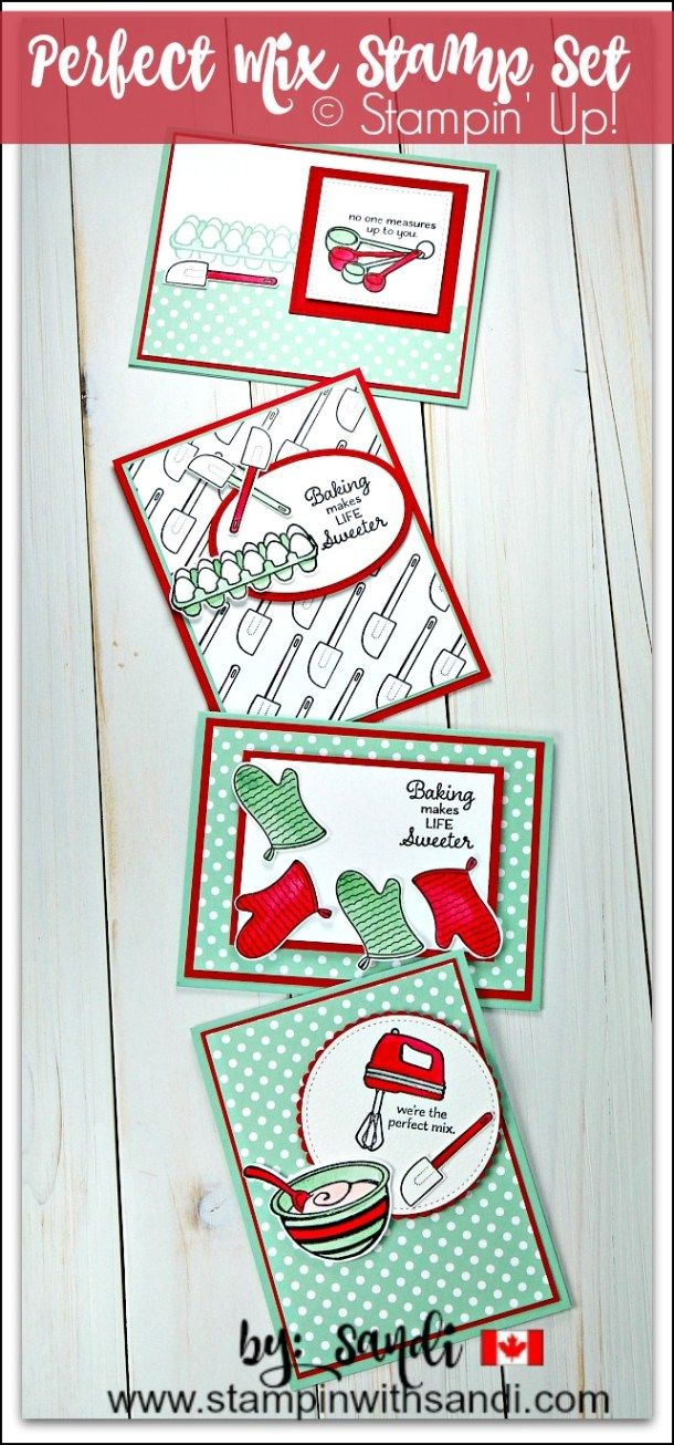 Perfect Mix Cards and FREE tutorials by Sandi at stampinwithsandi.com
