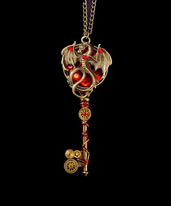 *jaw hits floor* >>> Steampunk necklace Game of Thrones by CindersJewelryDesign on Etsy, $55.00