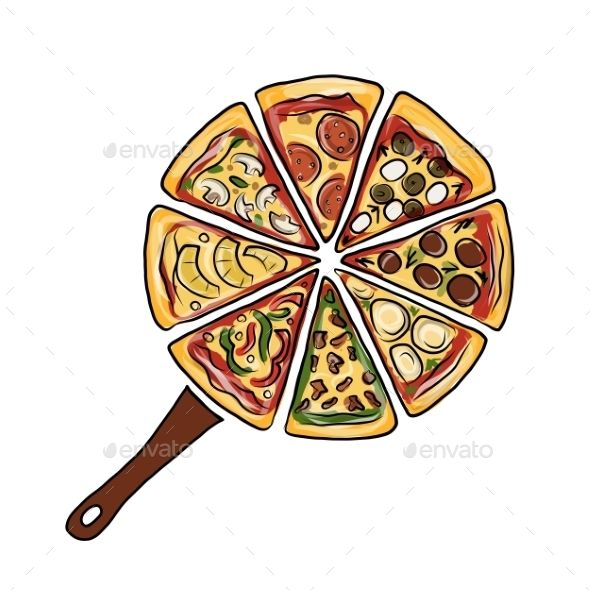 Pan with Pieces of Pizza
