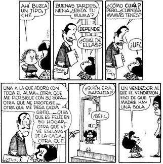 "Mafalda for Mother's day, by Joaquin Salvador Lavado ""Quino"""
