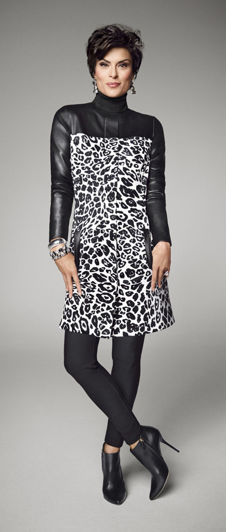 Go wild with a pieced jacket. Chico's Animal Print Duster.