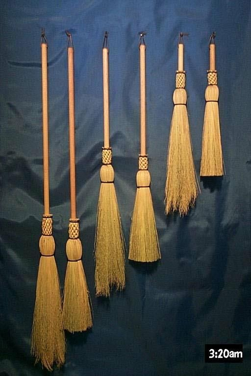 shaker flat, cobwebbers, trimmed, untrimmed brooms~Northwoven Broom~Crawford Bay, BC, Canada