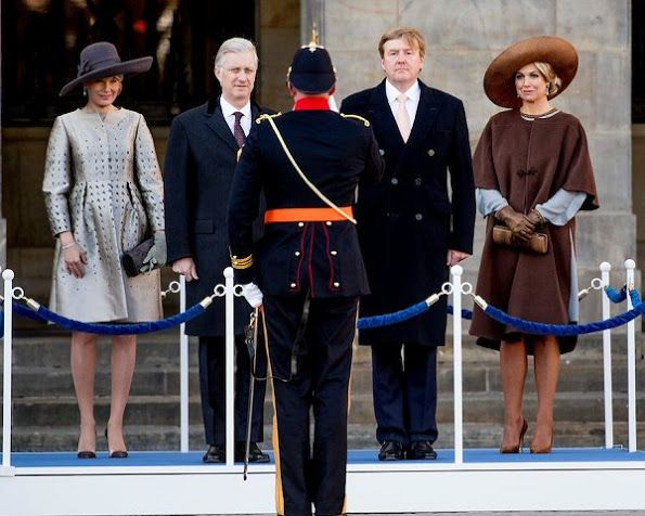 28 November 2016 - King Willem-Alexander and Queen Maxima welcome Queen Mathilde and King Filip of Belgium for their state visit to The Netherlands