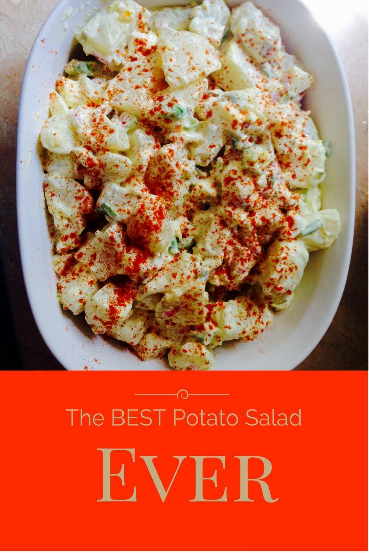 This is the best potato salad you will ever try! It is a simple and easy recipe that makes the perfect side to any meal. For more recipes check out: www.onlygirl4boyz.com #potatosalad #easyrecipes #easysides
