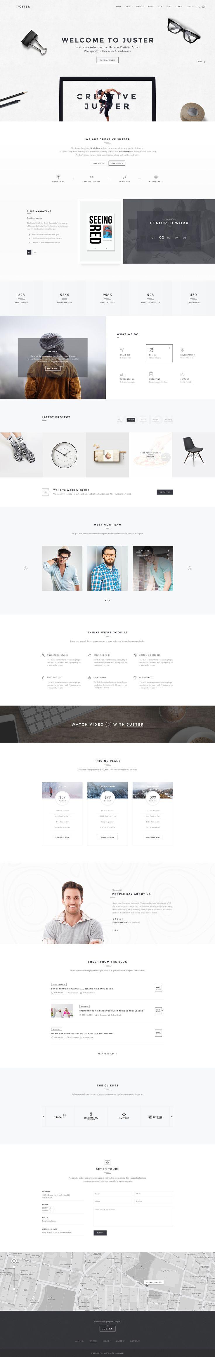 Juster – Minimal Multi-Purpose PSD Template | ThemeForest