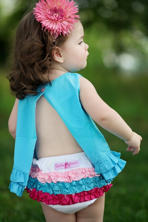 RuffleButts Woven Multi-Colored Ruffle-rufflebutts, ruffle panties, diaper cover, ruffle, multi colored, pink, teal, red, baby, girl, infant, newborn, pictures, photo session, baby shower gift, trendy, baby boutique