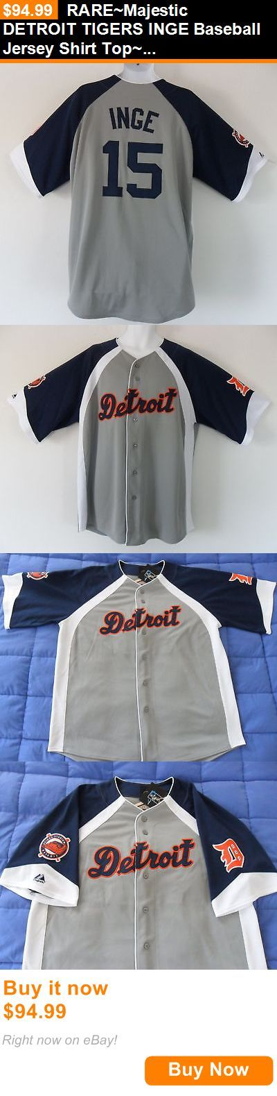 Baseball Shirts and Jerseys 181336: Rare~Majestic Detroit Tigers Inge Baseball Jersey Shirt Top~Mens Sz Sz Xl BUY IT NOW ONLY: $94.99