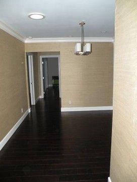 Dark Wood Floors Modern Family Room