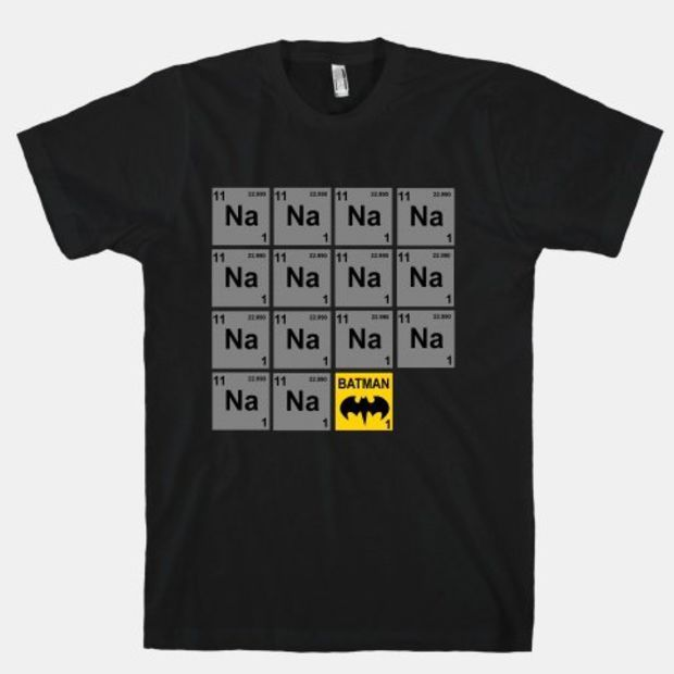 Periodic Table of Batman | HUMAN