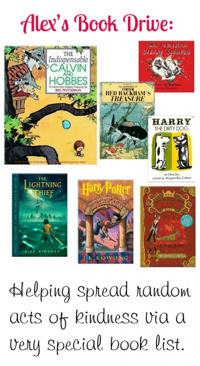 {Alex's Book Drive} Looking for an awesome book for a young boy in your life? Take a peek at this lovely list. Help be a reminder of what is good in the world by donating one copy to a child in need. In memory of Alex, in hopes it brings his mother comfort to see all the repins with her son's touch.
