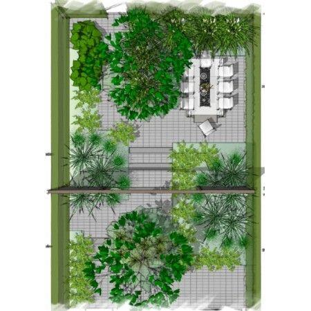 Romantische kleine tuin