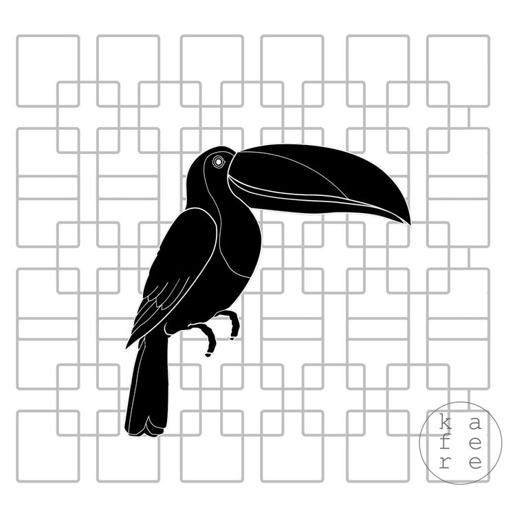 minimalistic tucan illustration