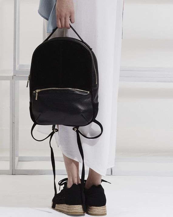 Leather Backpack OPELLE Baby Kanye soft leather by opellecreative ...