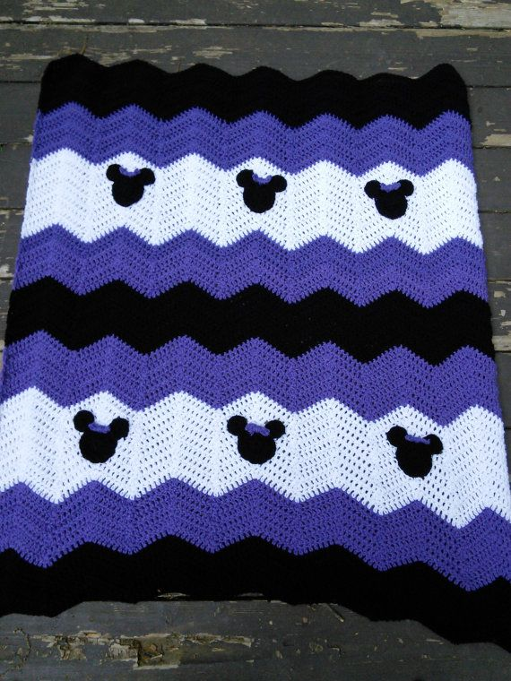 Purple Black and White Minnie Mickey Mouse Crochet by MandyMiranda, $35.00