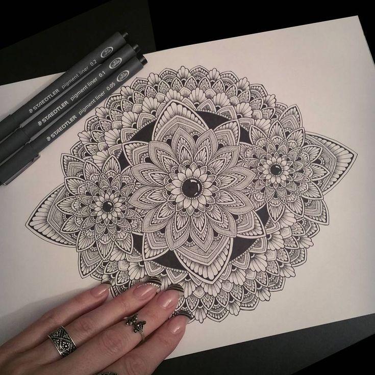 "779 Likes, 8 Comments - Sandra ♡ (@sandraws_to_relax) on Instagram: ""~Work in progress~✍ The start of a new A5mandala drawing ♡ • • • • #mandala #mandalaart…"""