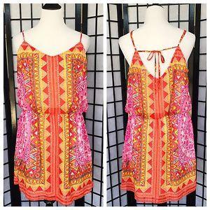 B.Smart Multicolor Aztec Print Summer Blouson Sheath Dress 14  | eBay