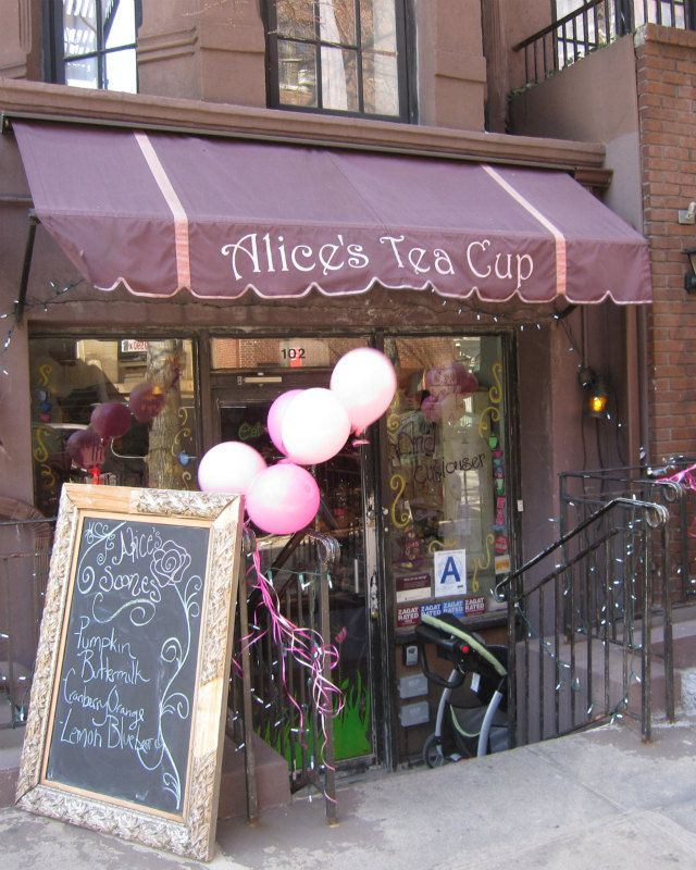 New York City Photo Upper West Side Alice's Tea Cup cozy tea parlor restaurant Alice in Wonderland dining bohemian. $15.00, via Etsy.