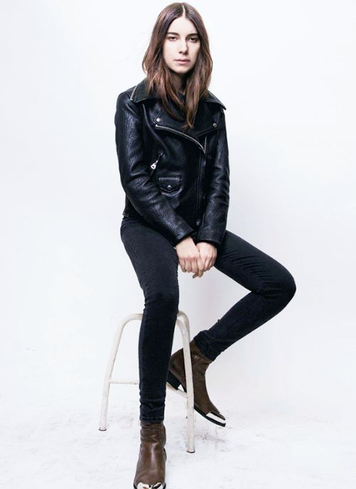 I 39 M Having A Danielle Haim Moment Icons Pinterest Haim Style Leather Jackets And Jackets