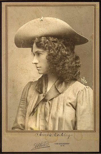 Annie Oakley 1860-1926. Annie began trapping at a young age, and shooting and hunting by age eight to support her siblings and her widowed mother. She sold the hunted game for money to locals in Greenville, as well as restaurants and hotels in southern Ohio. Her skill eventually paid off the mortgage on her mother's farm when Annie was 15. He life story is amazing.