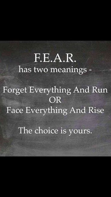 Fear has two meanings...