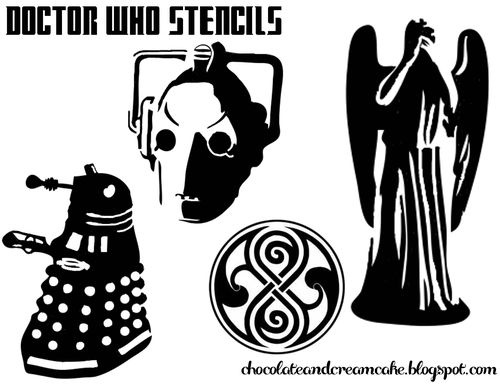 A bunch of cool Doctor Who stencils!