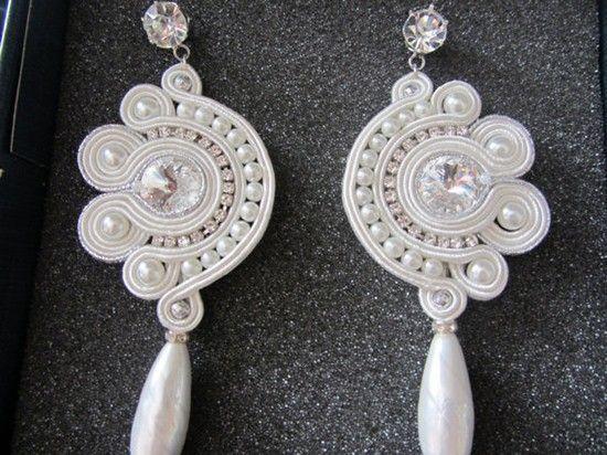 Orecchini sposa soutache. Bride earrings. #wedding #earrings