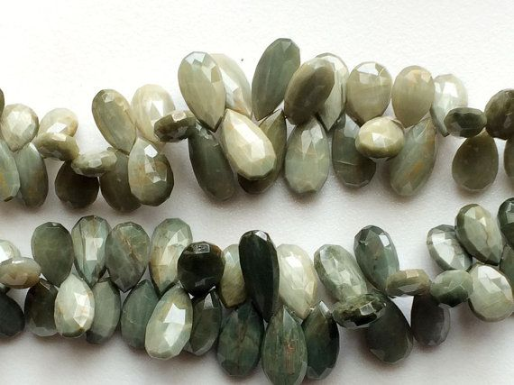 Cats Eye Stone Cats Eye Faceted Pear Briolettes by gemsforjewels