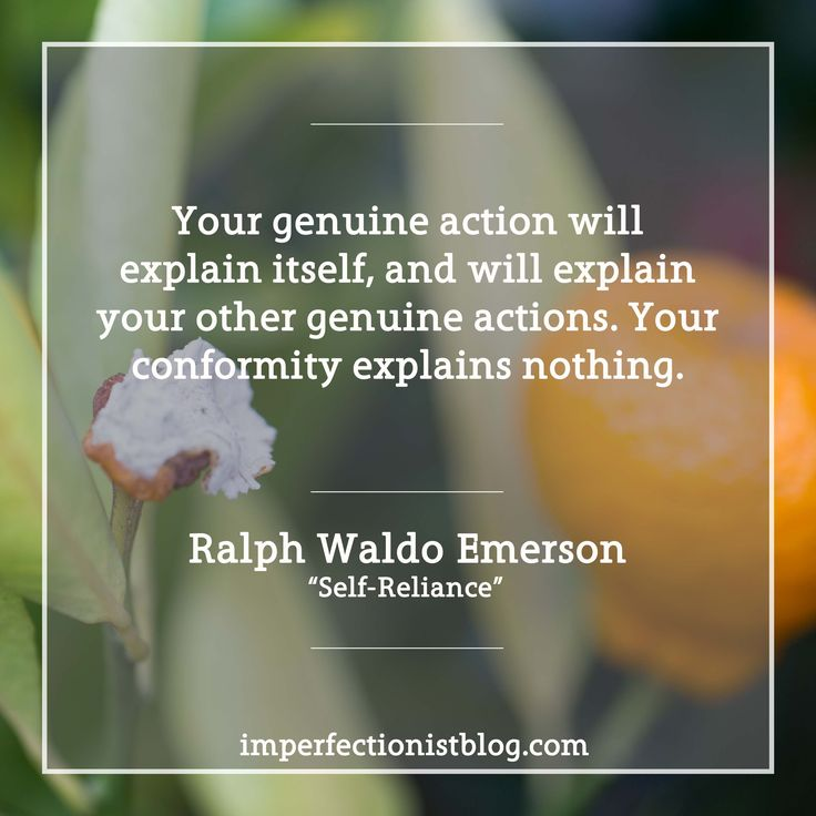 ralph waldo emerson in his essay self reliance Transcendentalism in ralph waldo emerson, in his essay, self reliance, had many points that stood out to me in understanding the importance of individuality.