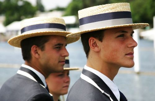 men in boaters- there is something I could spend some time researching