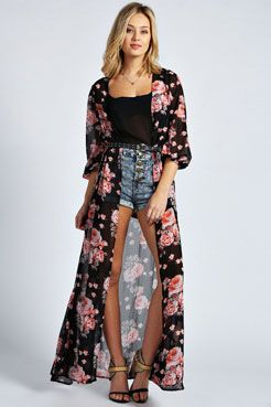Best 25  Long kimono ideas on Pinterest | Long kimono outfit, Long ...
